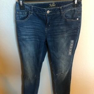 Girls Justice jeans never worn